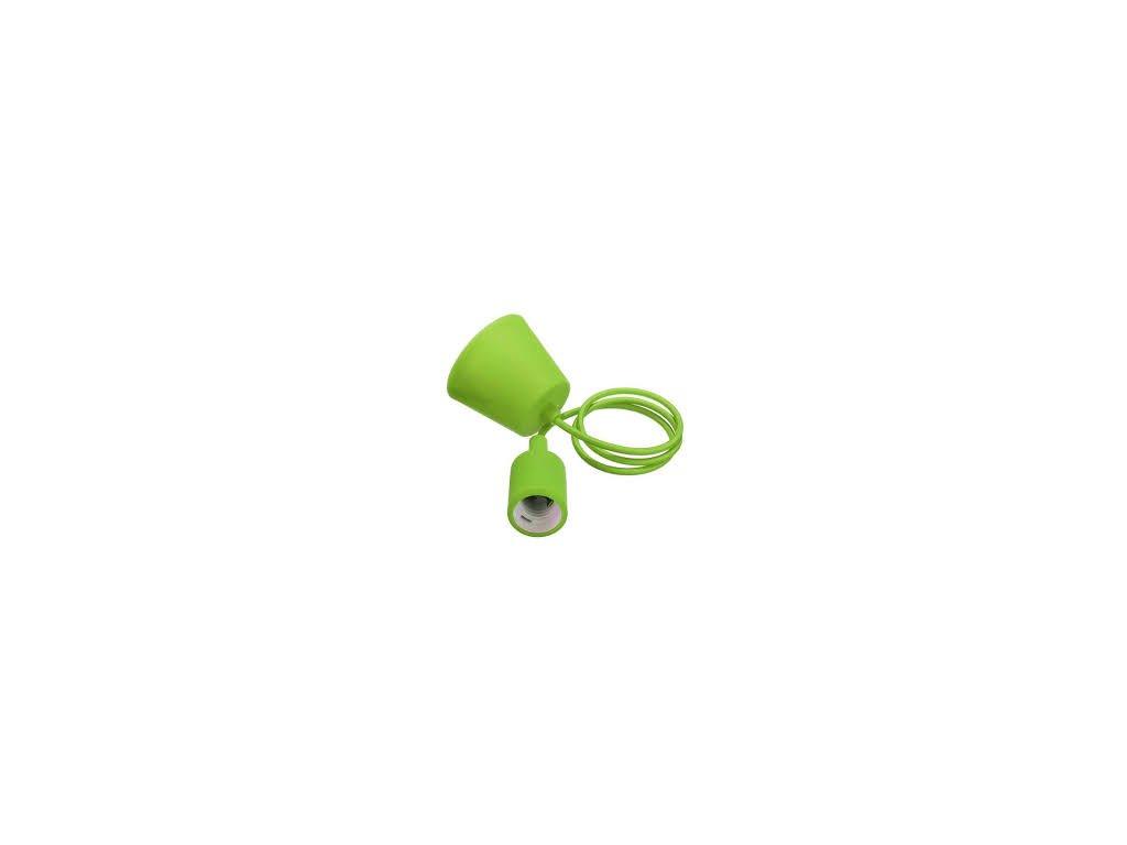 Závěsná silikonová objímka E27 zelená (VT-7228-3486)