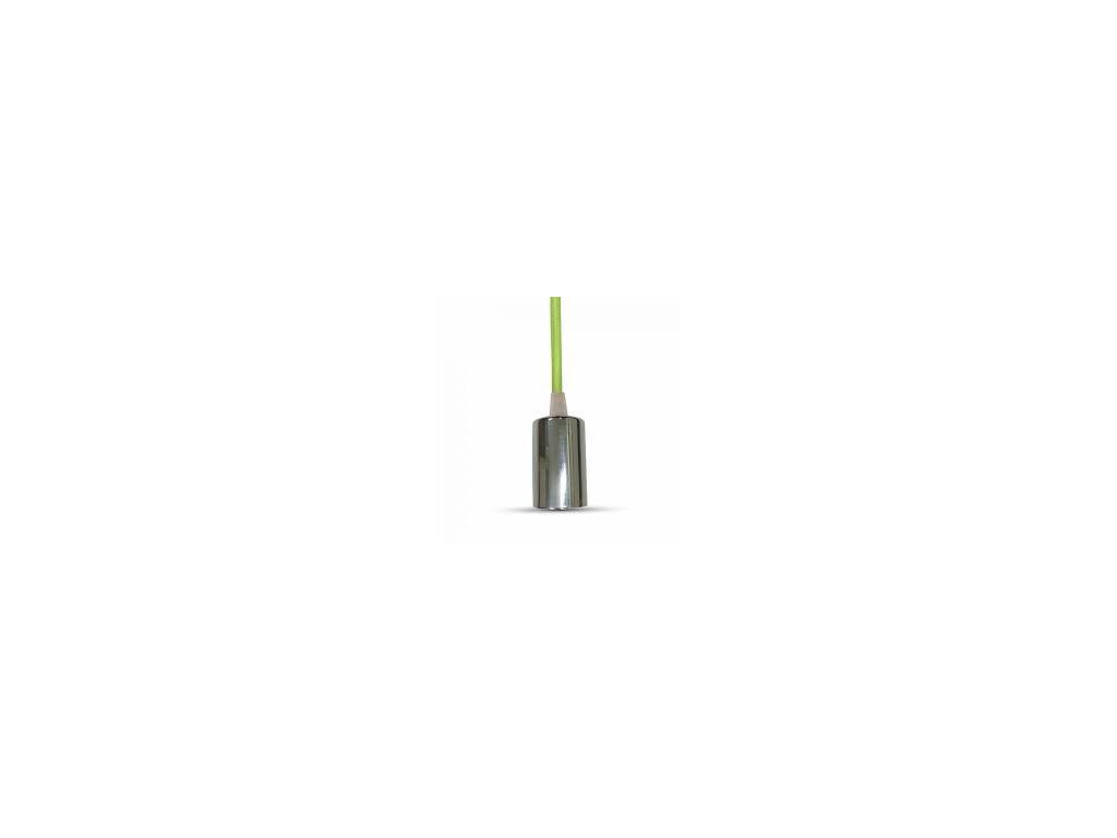 Závěsná objímka E27 zelená (VT-7338-3785)