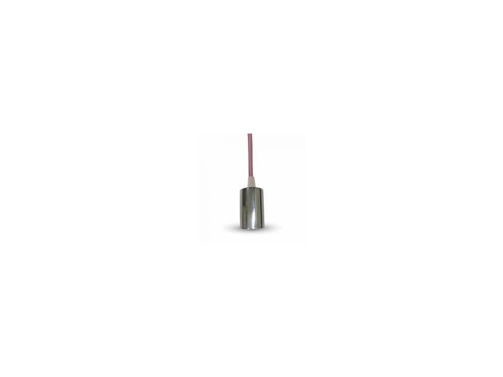 Závěsná objímka E27 růžová (VT-7338-3789)