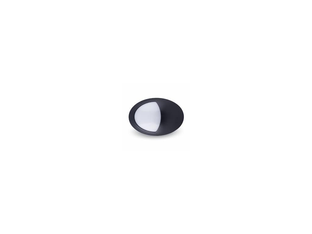 LED stropní svítidlo půlovál 12W 4500K IP65 (VT-8010-4972)