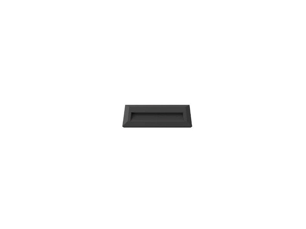 LED orientační svítidlo obdélník 3W 3K černé (VT-1162-1329)