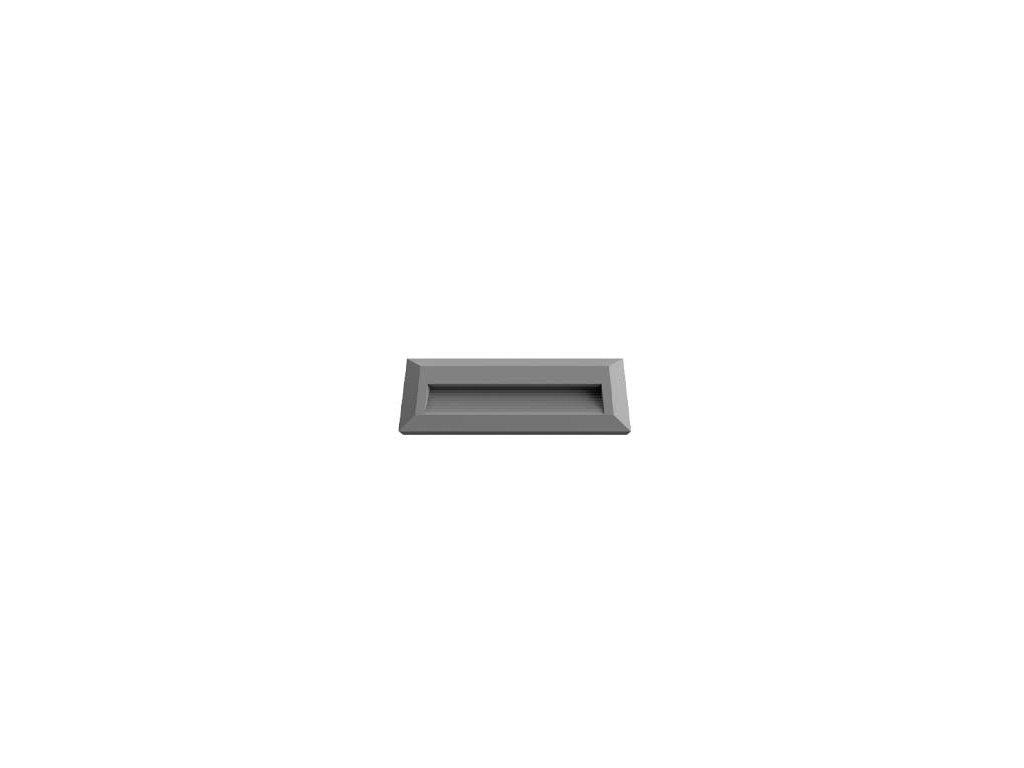 LED orientační svítidlo obdélník 3W 4K šedé (VT-1162-1330)
