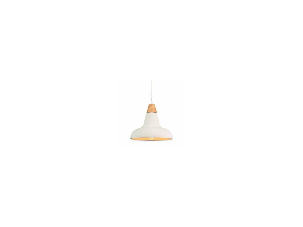 Lustr bílý s dřevěným držadlem (VT-7132-3858)