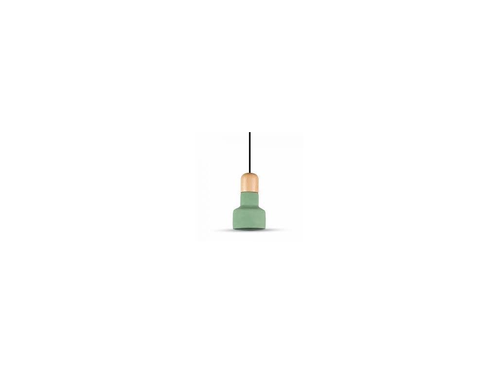 Lustr zelený s dřevěným držadlem (VT-7125-3856)
