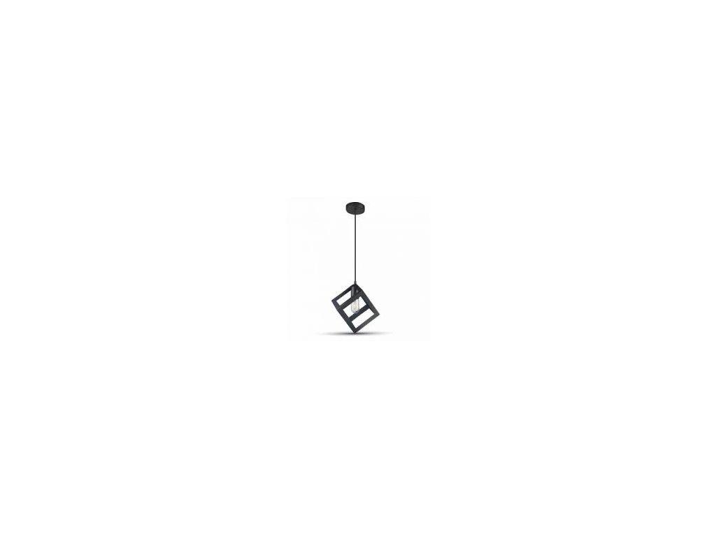 Lustr metal krychle matná černá (VT-7161-3834)