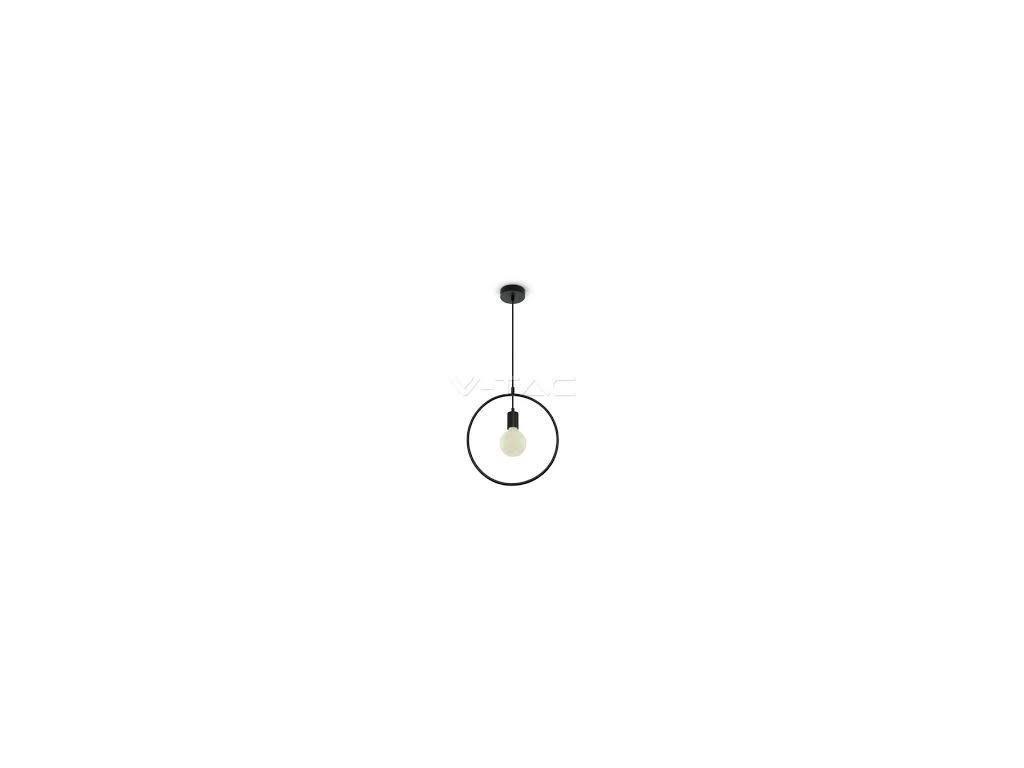 Lustr metal kruh matná černá (VT-7320-3836)