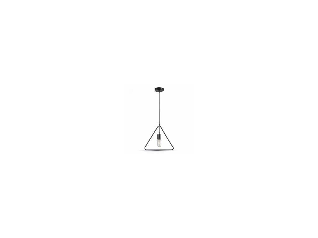 Lustr metal trojúhelník matná černá (VT-7321-3838)
