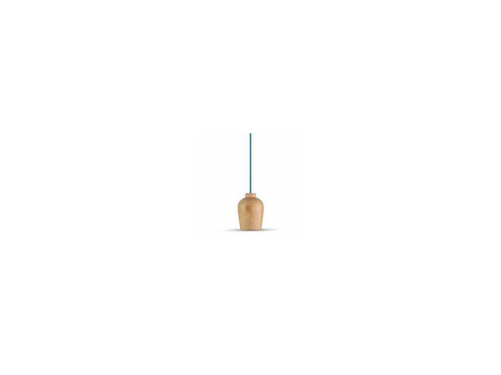 Lustr dřevěný modrý (VT-7778-3722)
