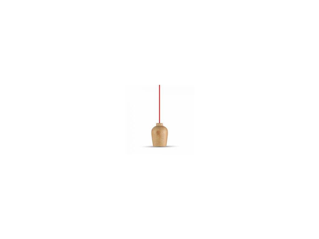Lustr dřevěný červený (VT-7778-3723)