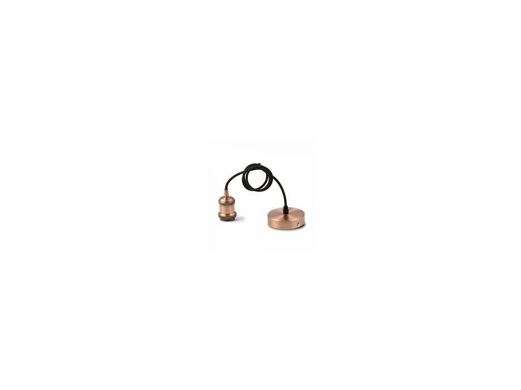 Závěsná kovová objímka E27 červený bronz (VT-7555-3840)