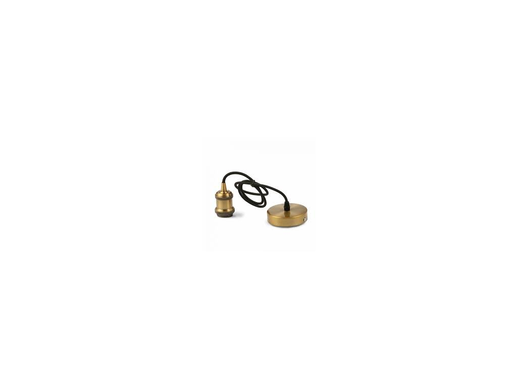 Závěsná kovová objímka E27 hnědý bronz (VT-7555-3841)