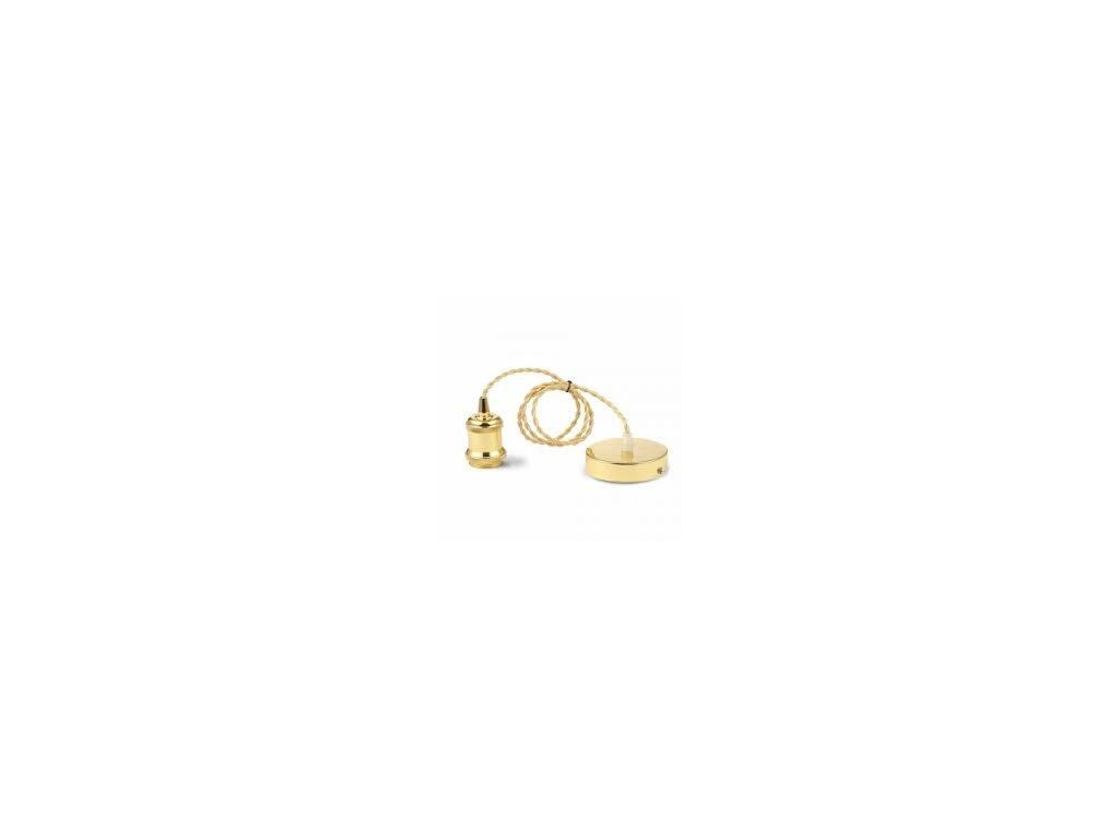 Závěsná kovová objímka E27 zlatá (VT-7555-3844)