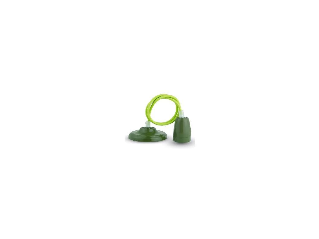 Závěsná porcelánová objímka E27 zelená (VT-7998-3805)