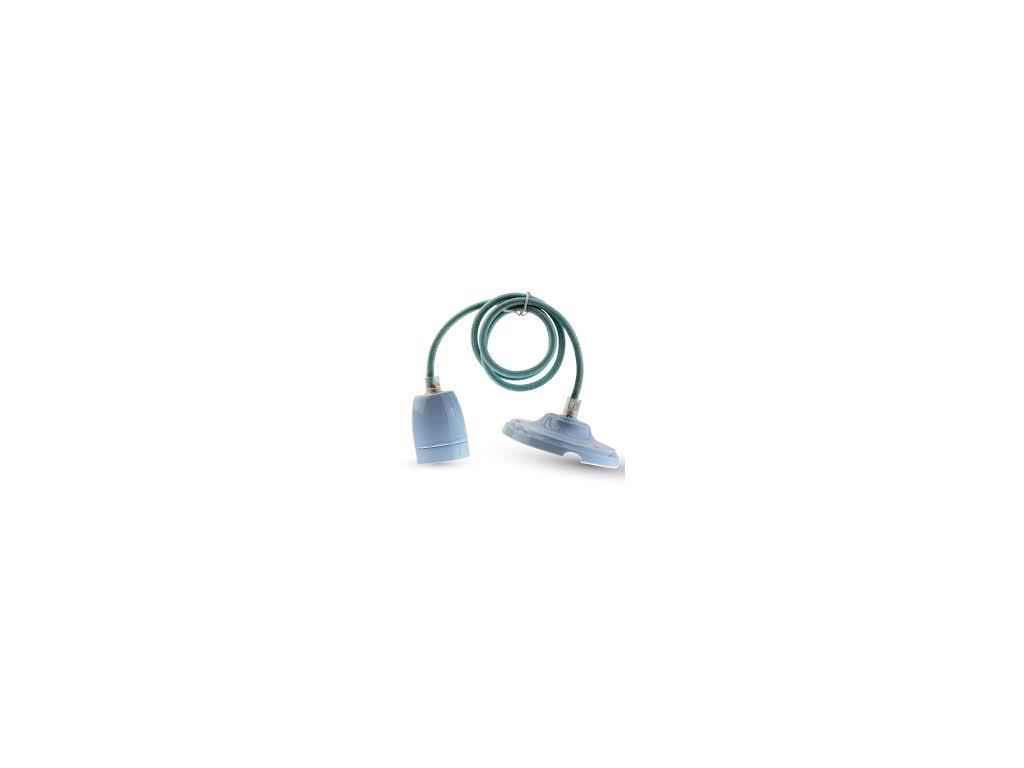 Závěsná porcelánová objímka E27 modrá (VT-7998-3806)