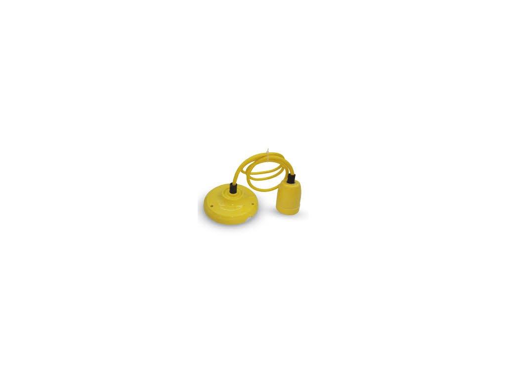 Závěsná porcelánová objímka E27 žlutá (VT-7998-3809)