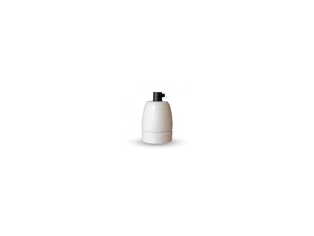 Porcelánové držadlo k lustrům E27 bílé (VT-799-3795)
