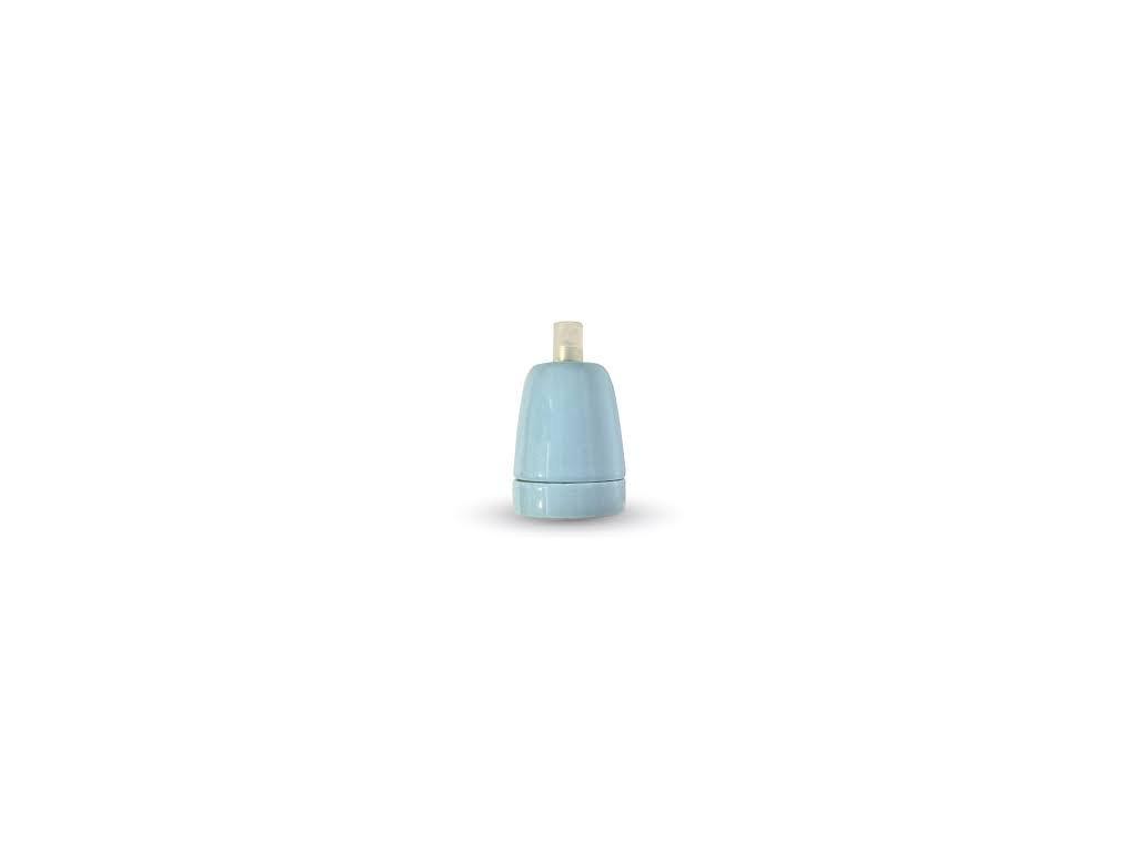 Porcelánové držadlo k lustrům E27 modré (VT-799-3798)