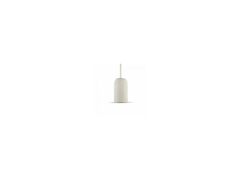 Cementové držadlo k lustrům E27 bílé (VT-7668-3746)