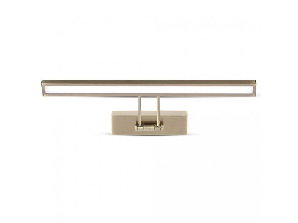 LED zrcadlové svítidlo gold 4K 8W 600lm obdélník (VT-7009-3901)