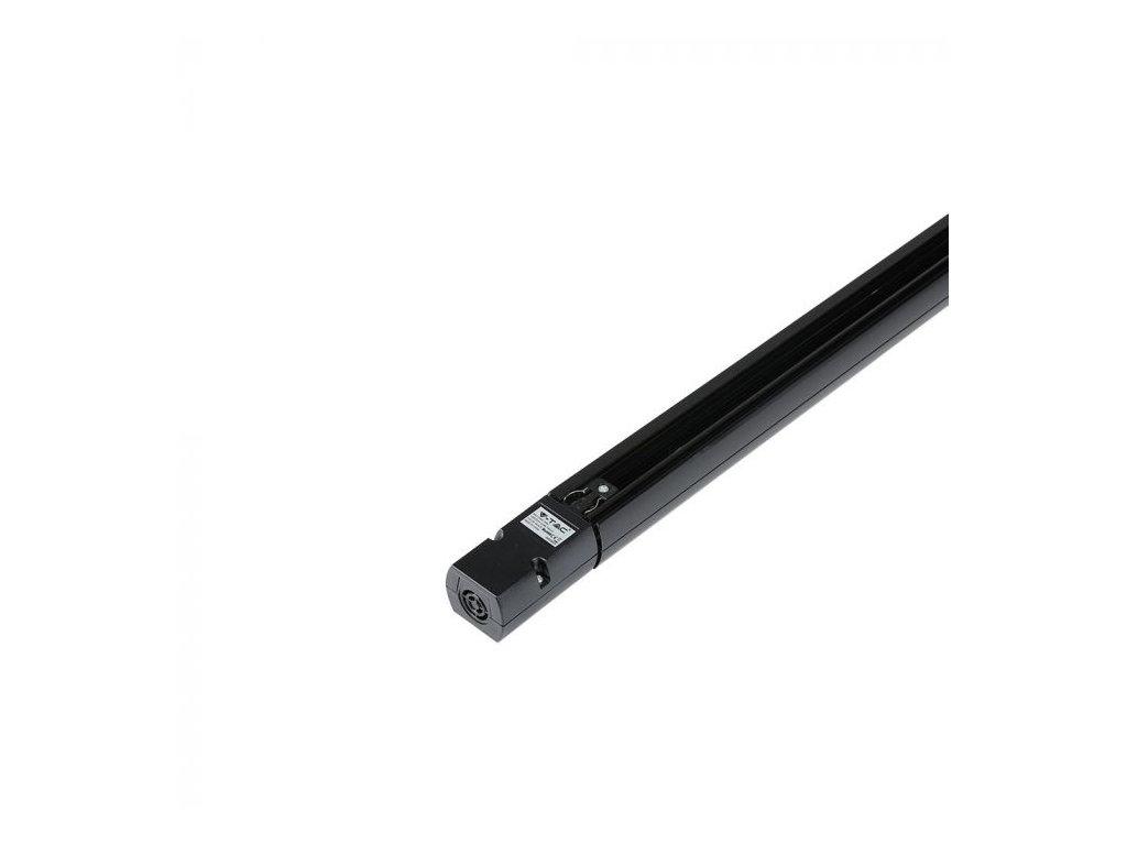 4-polová lišta 2m černá  EU standard (VT-XXXX-9954)
