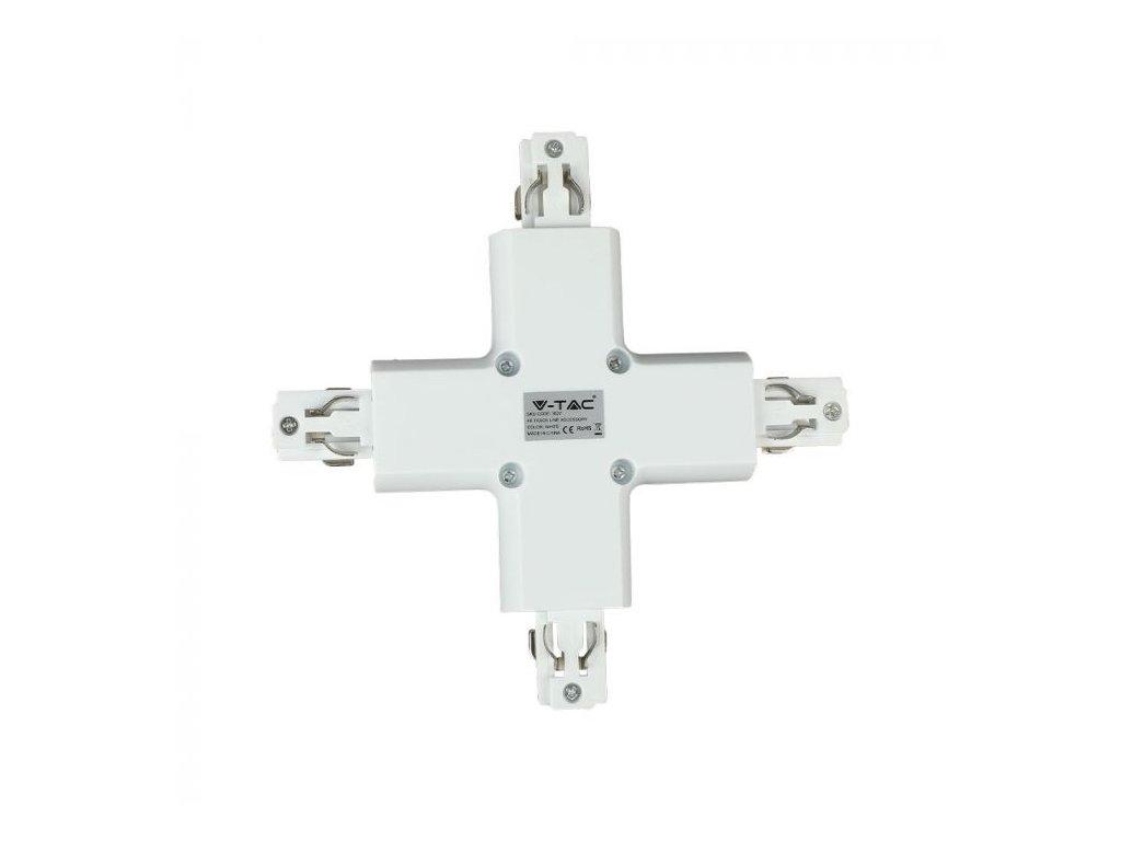 Křížová spojka na 4-polovou lištu bílá (VT-XXXX-3527)