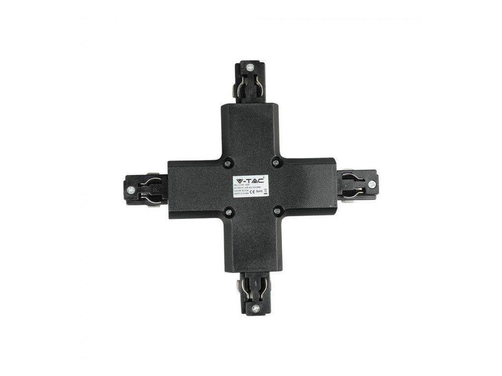 Křížová spojka na 4-polovou lištu černá (VT-XXXX-3526)