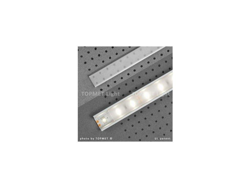 Lišta krycí jemně matná klip 2m na profil 11,60,12 (55/LED/JMAT/KLIP)