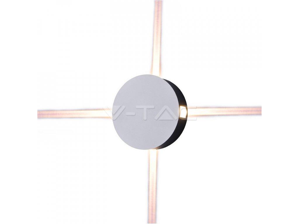 LED nástěnné R svítidlo 4W 3000K IP65 4 směry (VT-706-8213)