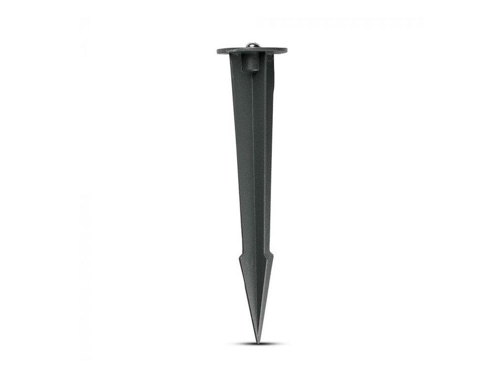Držák na reflektory do země šedý Ø 60mm (VT-855-G-7536)