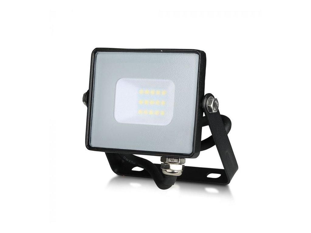 LED reflektor Slimline SAMSUNG 10W IP65 6400K černý (VT-10-B-426)