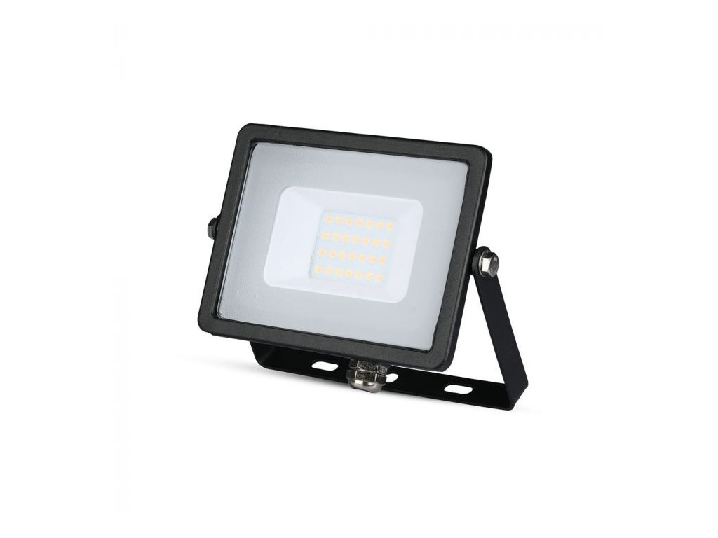 LED reflektor Slimline SAMSUNG 20W IP65 3000K černý (VT-20-B-439)