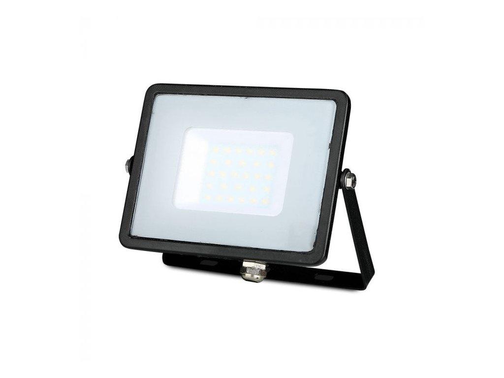 LED reflektor Slimline SAMSUNG 30W IP65 6400K černý (VT-30-B-402)