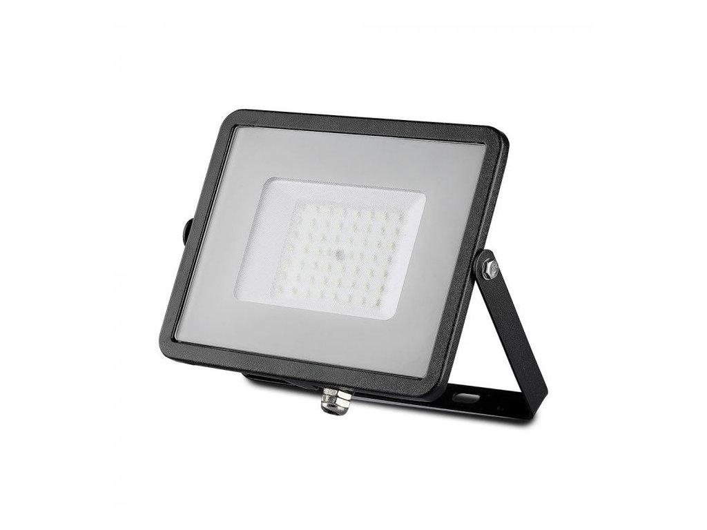 LED reflektor Slimline SAMSUNG 50W IP65 6400K černý (VT-50-B-408)
