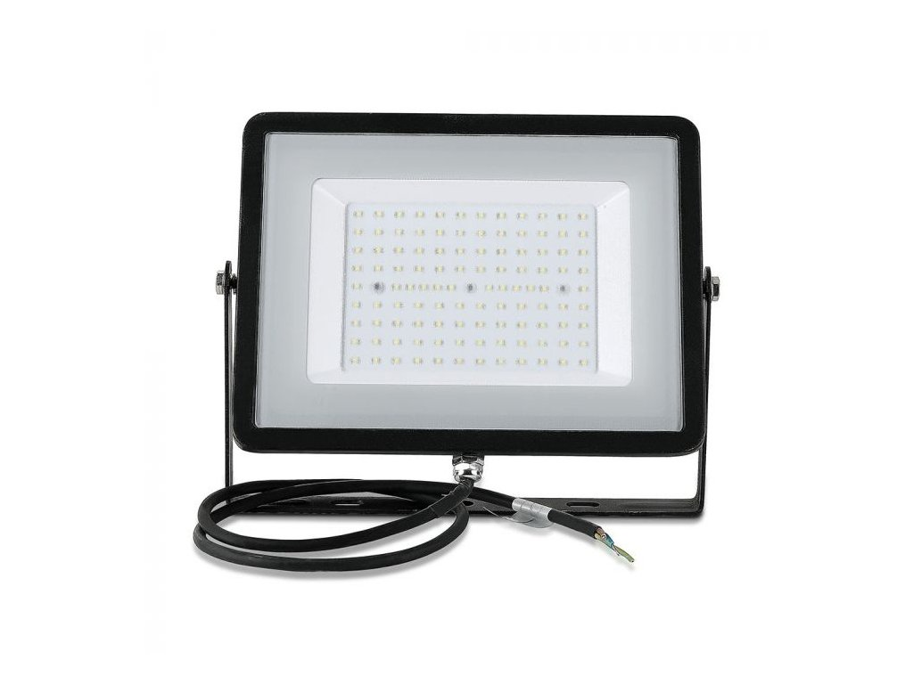 LED reflektor Slimline SAMSUNG 100W IP65 4000K černý (VT-100-B-413)