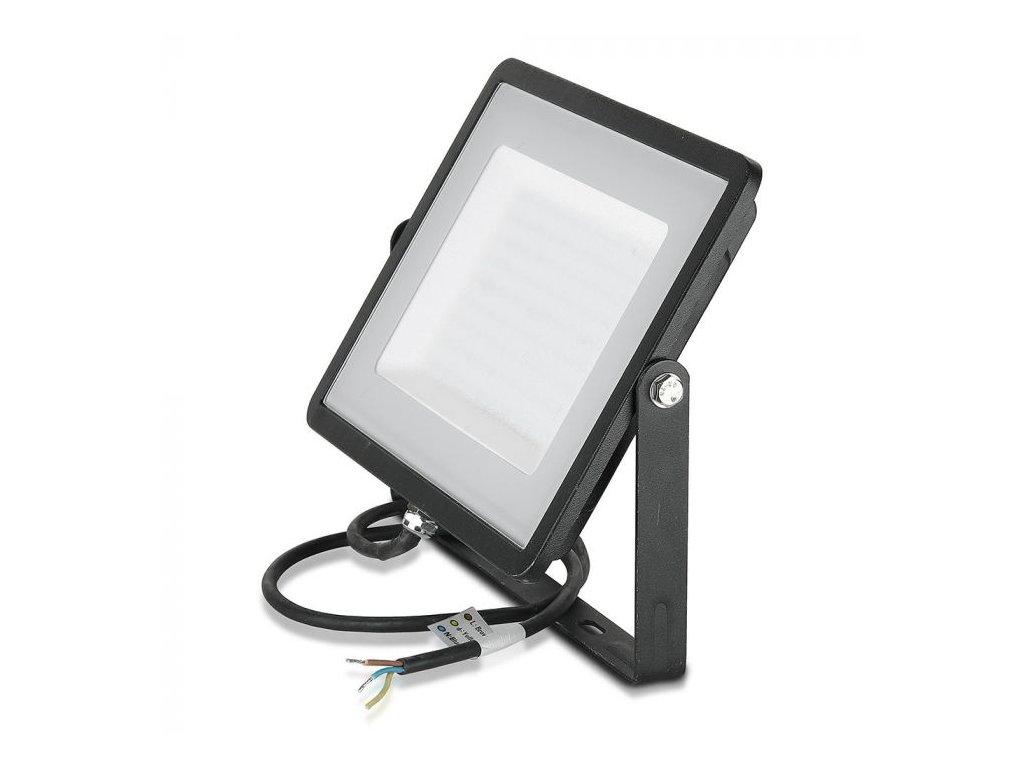 LED reflektor Slimline SAMSUNG 300W IP65 6400K černý (VT-300-B-423)