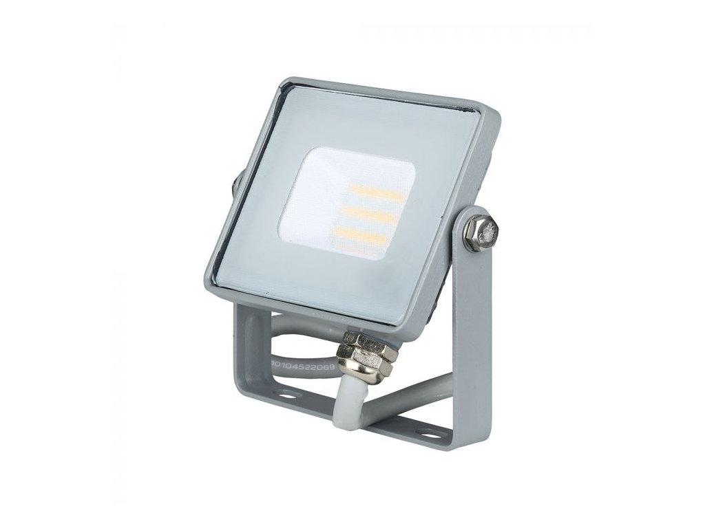 LED reflektor Slimline SAMSUNG 10W IP65 6400K šedý (VT-10-G-432)