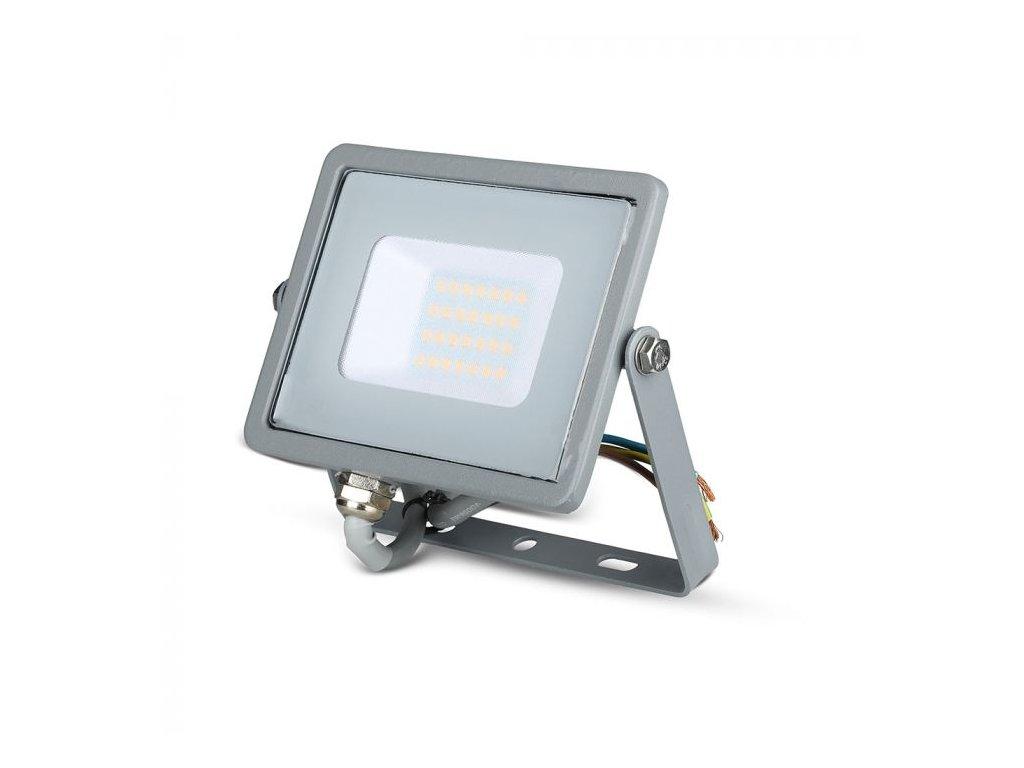 LED reflektor Slimline SAMSUNG 20W IP65 6400K šedý (VT-20-G-447)