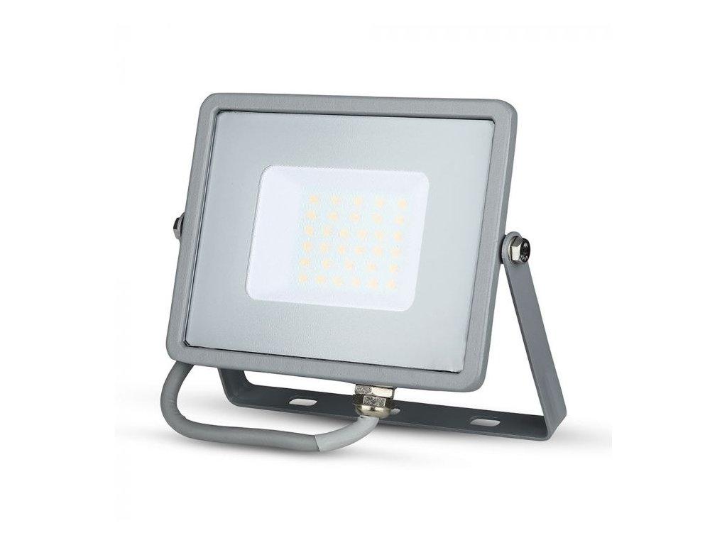 LED reflektor Slimline SAMSUNG 30W IP65 6400K šedý (VT-30-G-456)