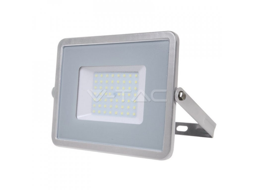 LED reflektor Slimline SAMSUNG 50W IP65 6400K šedý (VT-50-G-465)