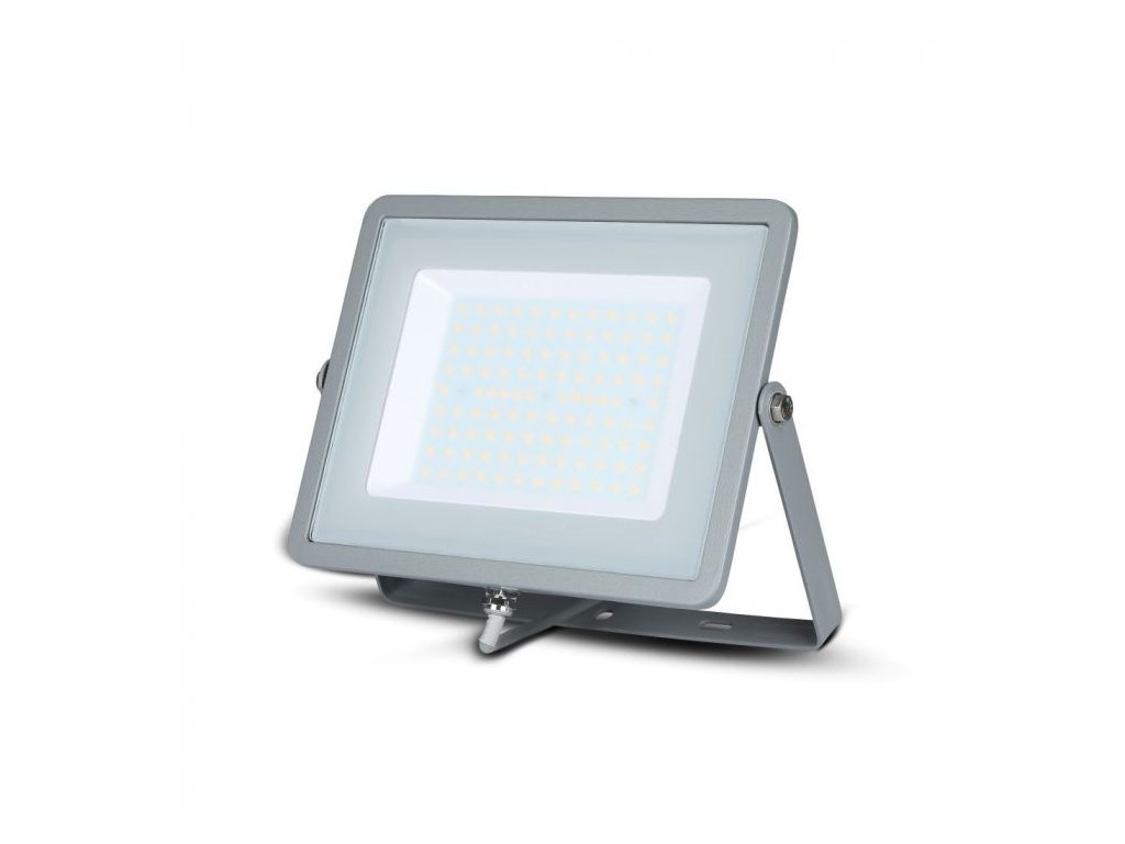 LED reflektor Slimline SAMSUNG 100W IP65 6400K šedý (VT-100-G-474)