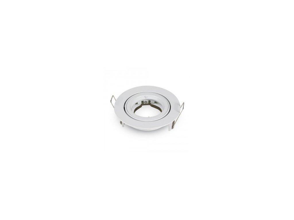 Obruba pro bodové svítidlo pro GU10 R bílé otočné (VT-775-3645)