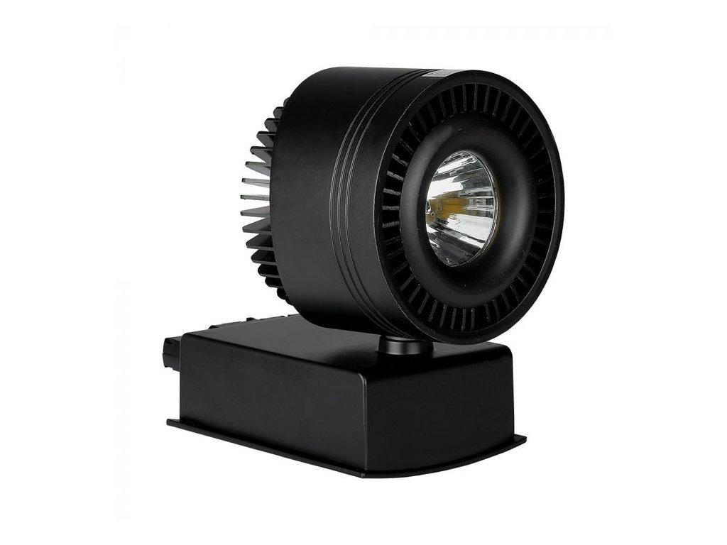LED 4-fázový projektor pro lištový systém černý 33W 4K (VT-4535-1234)