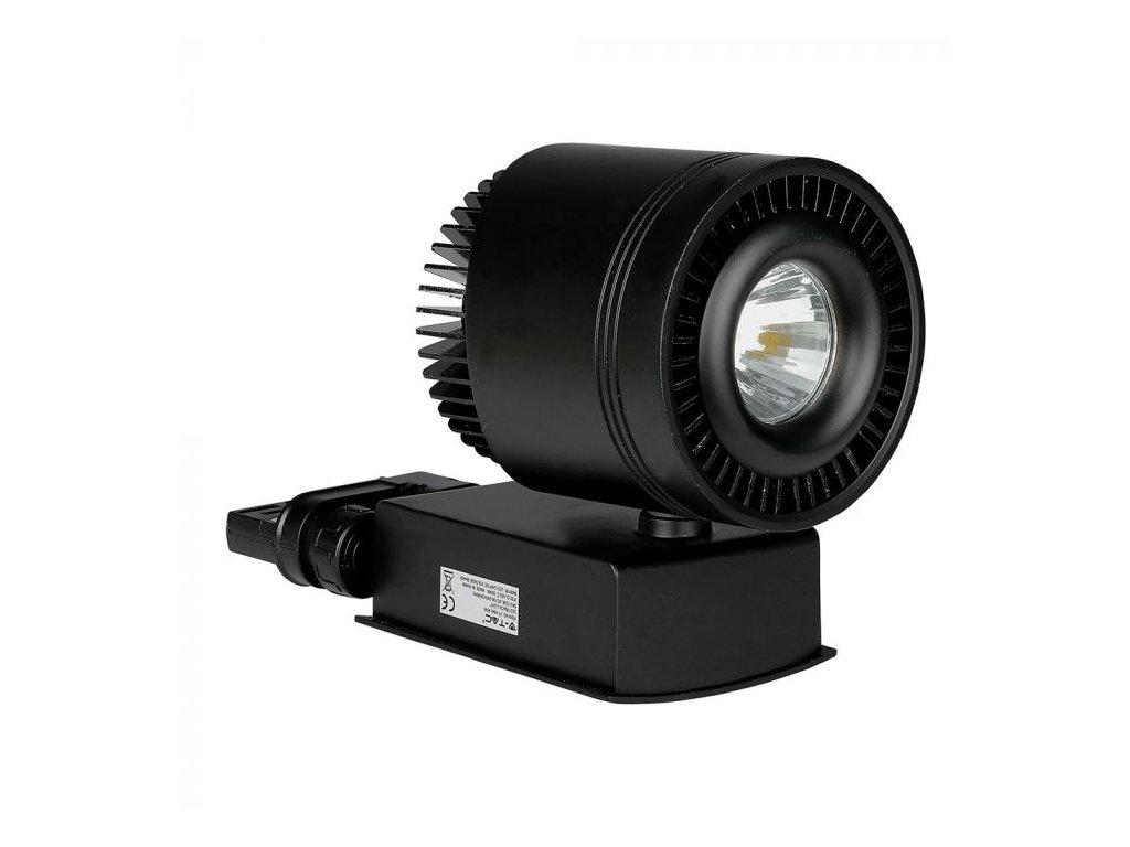LED 4-fázový projektor pro lištový systém černý 45W 3K (VT-4545-1236)