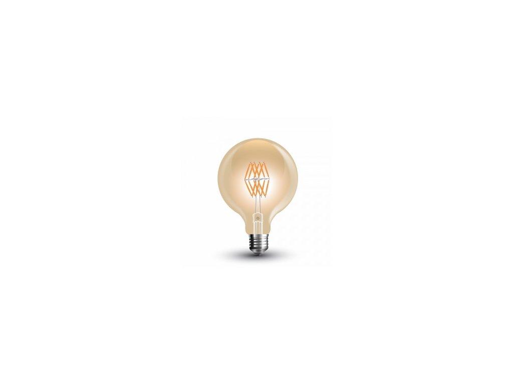 LED žárovka 8W 16filament jantar (VT-2019-7145)