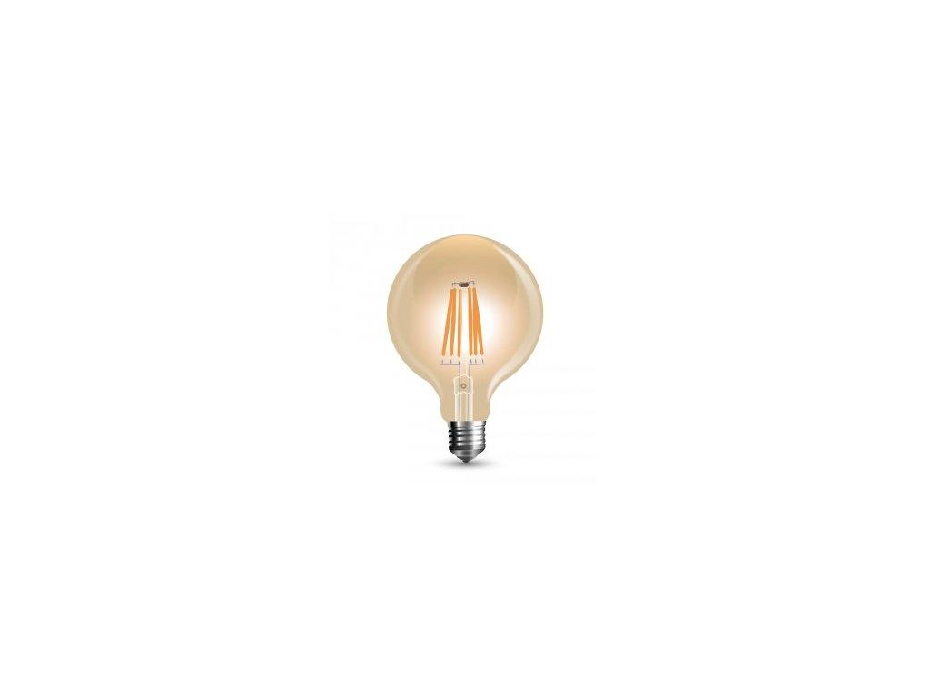 LED žárovka 8W filament jantar stmívatelná (VT-2018D-7155)