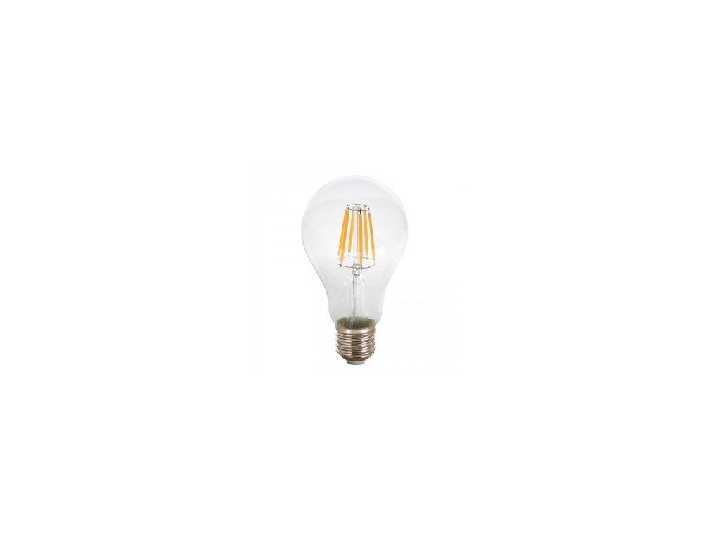 LED žárovka 10W A67 E27 filament čisté sklo (VT-1981-4410)