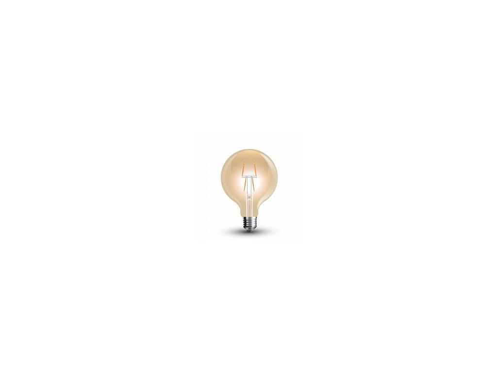 LED žárovka 4W 8-filament jantar (VT-2004-7148)
