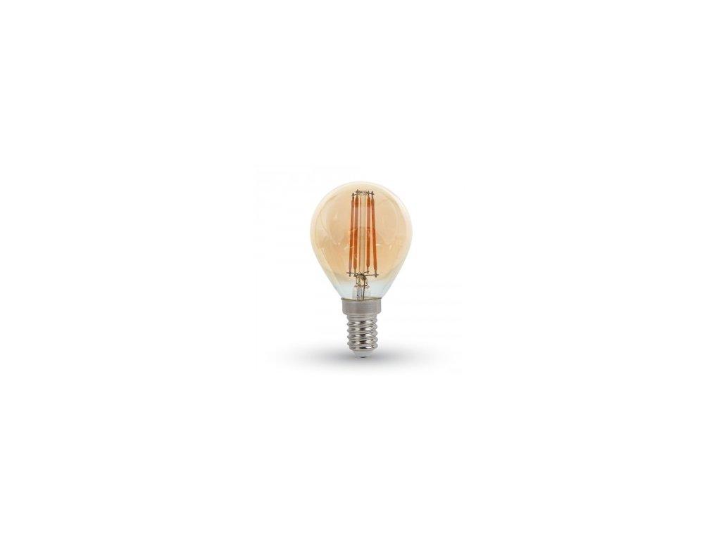 LED žárovka 4W P45 filament E14 jantar 2200K (VT-1953-4499)