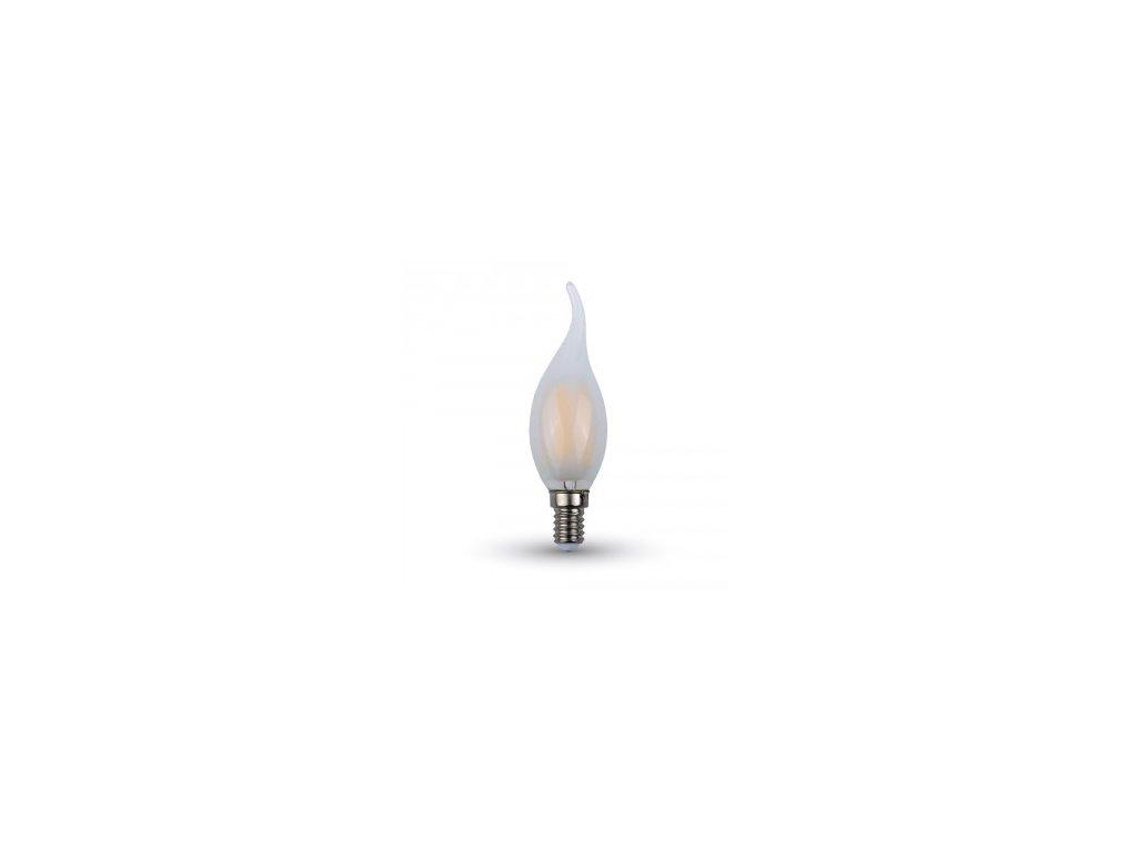 LED žárovka 4W candle flame E14 2700K 400lm (VT-1937-4477)