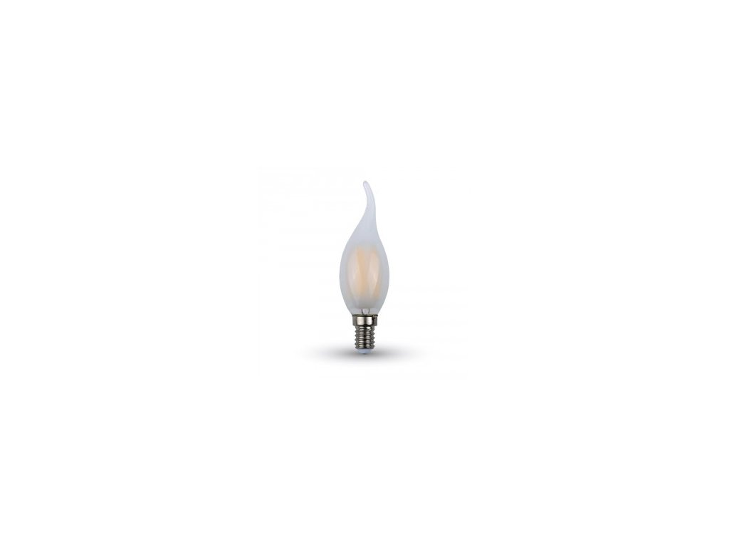 LED žárovka 4W candle flame E14 2700K 350lm stmívatelná (VT-2056D-7177)